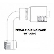 1/4 X 1/4 O-ring Face Seal Female 90 Long