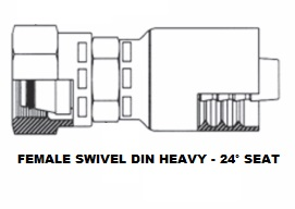 Female DIN Swivel (Heavy) (6)