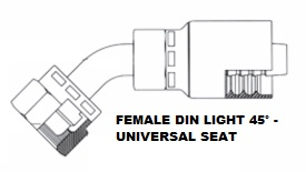 Female 45° DIN (Light) Swivel  (6)