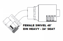 Female 45° DIN Heavy Swivel (4)