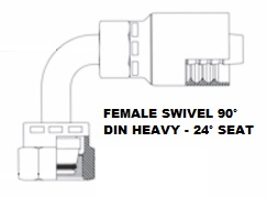 Female 90° DIN Heavy (Swivel) (4)
