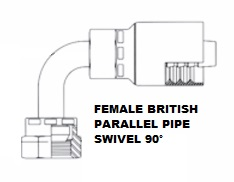 Female British Parallel Pipe Swivel 90° (5)